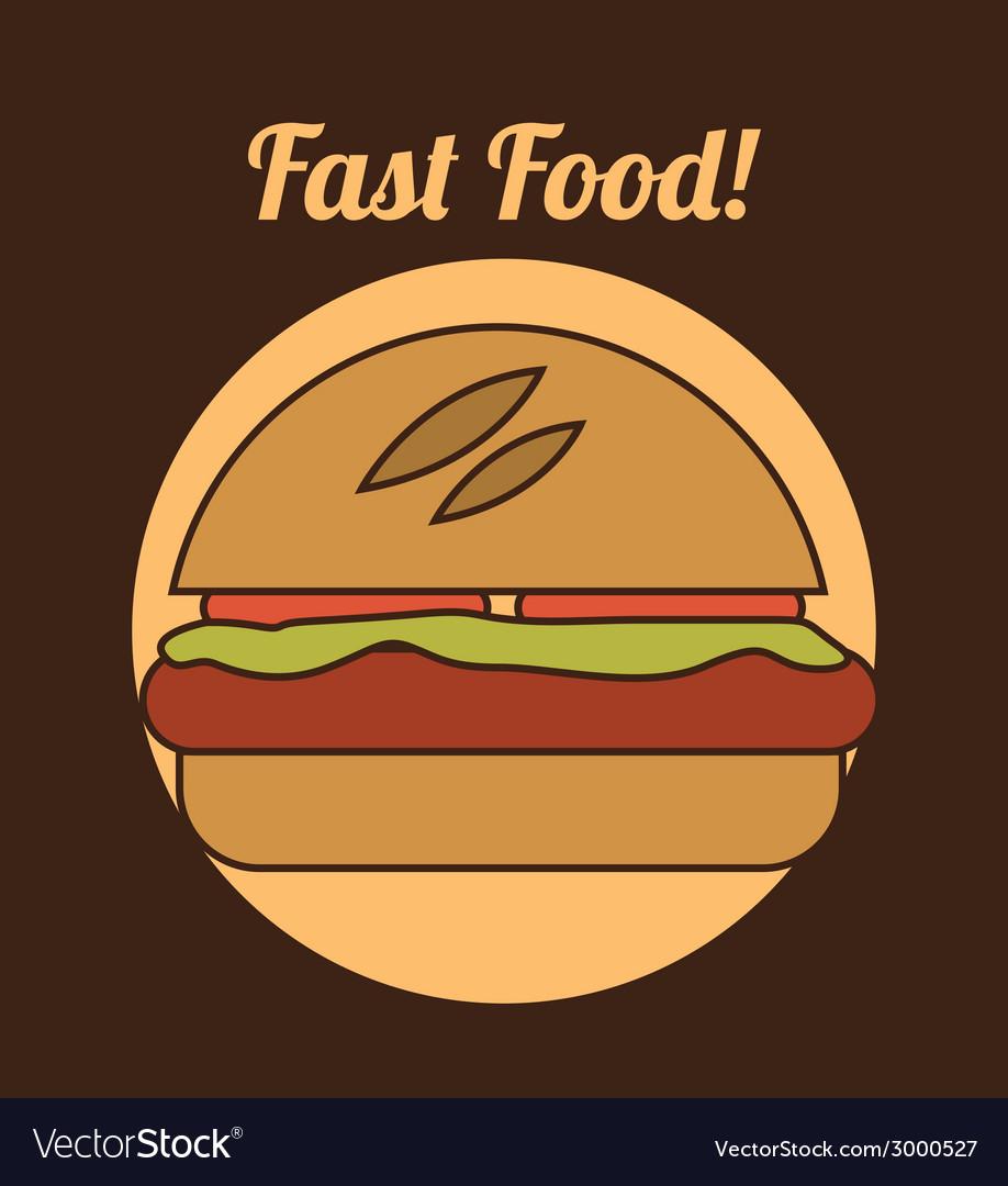 Burger design vector | Price: 1 Credit (USD $1)