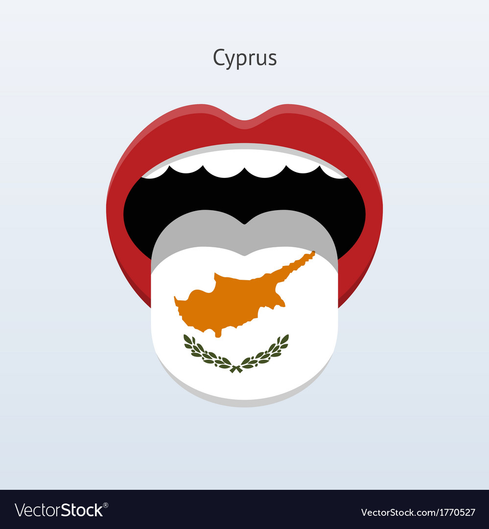 Cyprus language abstract human tongue vector | Price: 1 Credit (USD $1)