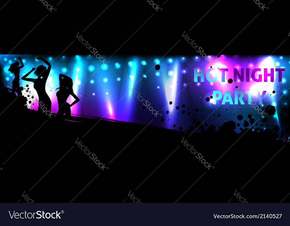 Dance banner vector | Price: 1 Credit (USD $1)
