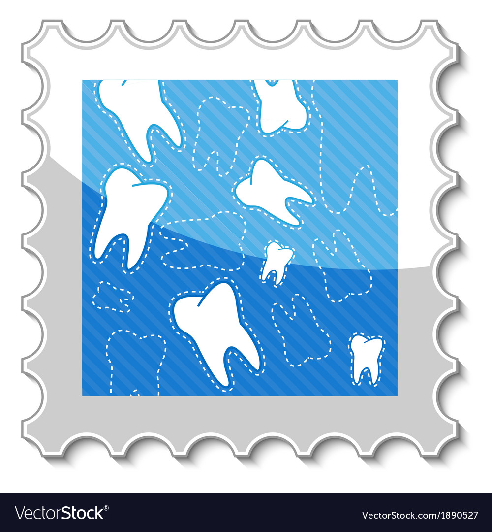 Dental stamp vector | Price: 1 Credit (USD $1)
