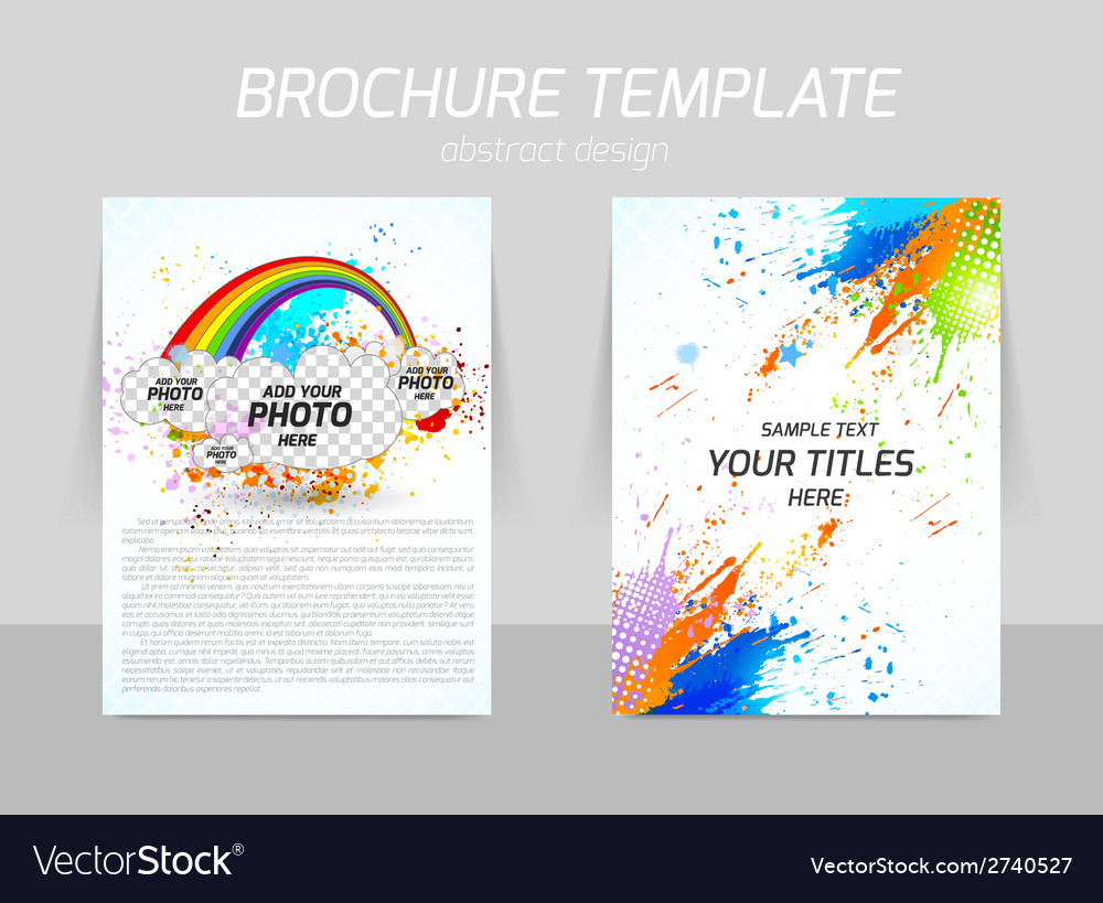 Flyer template design vector