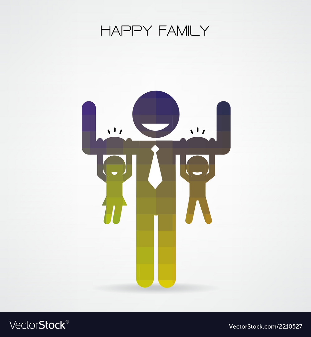 Happy family having fun vector | Price: 1 Credit (USD $1)