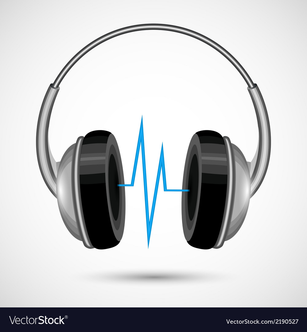 Headphones and soundwave poster vector | Price: 1 Credit (USD $1)