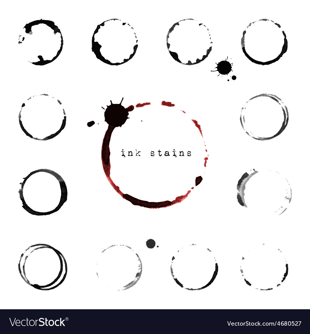 Ink round stains and blots vector | Price: 1 Credit (USD $1)