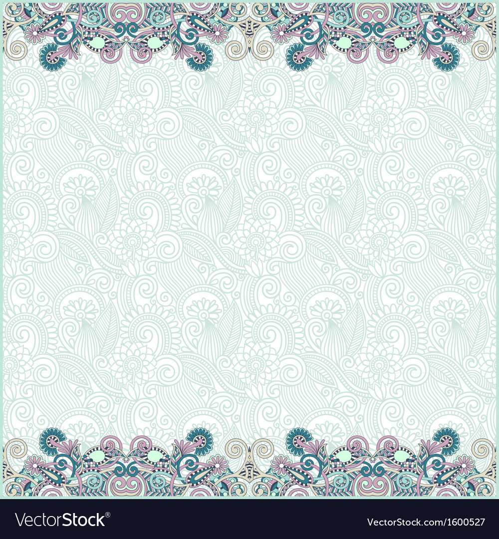 Ornate floral background with two ornament stripe vector | Price: 1 Credit (USD $1)