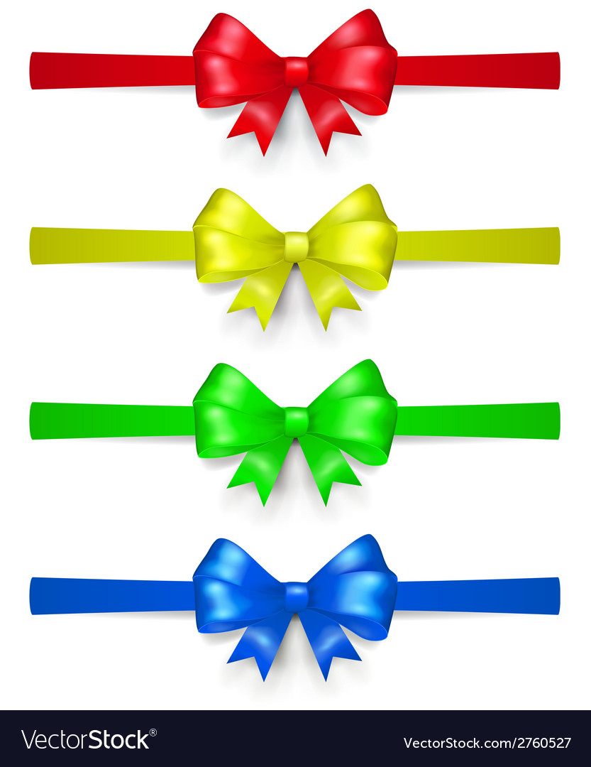 Set of multicolored bows vector | Price: 1 Credit (USD $1)
