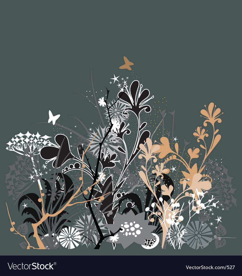 Twilight in my garden vector | Price: 1 Credit (USD $1)