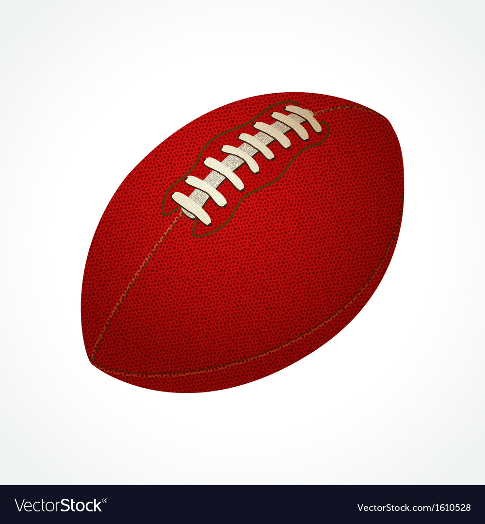 American football ball vector | Price: 3 Credit (USD $3)