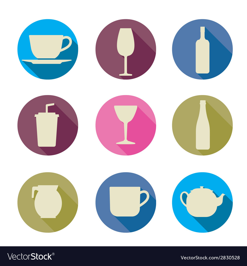 Beverage icons vector | Price: 1 Credit (USD $1)