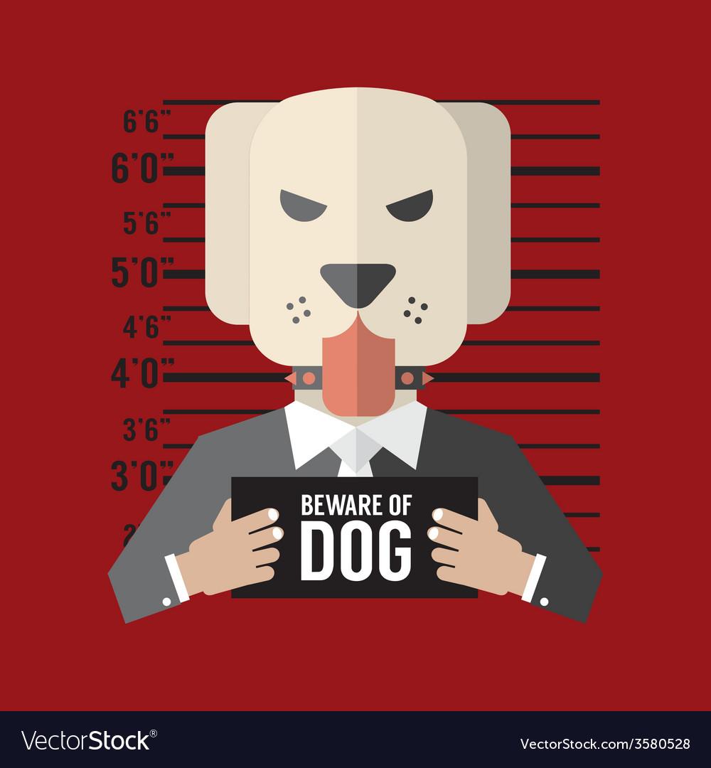 Beware of dog vector | Price: 1 Credit (USD $1)