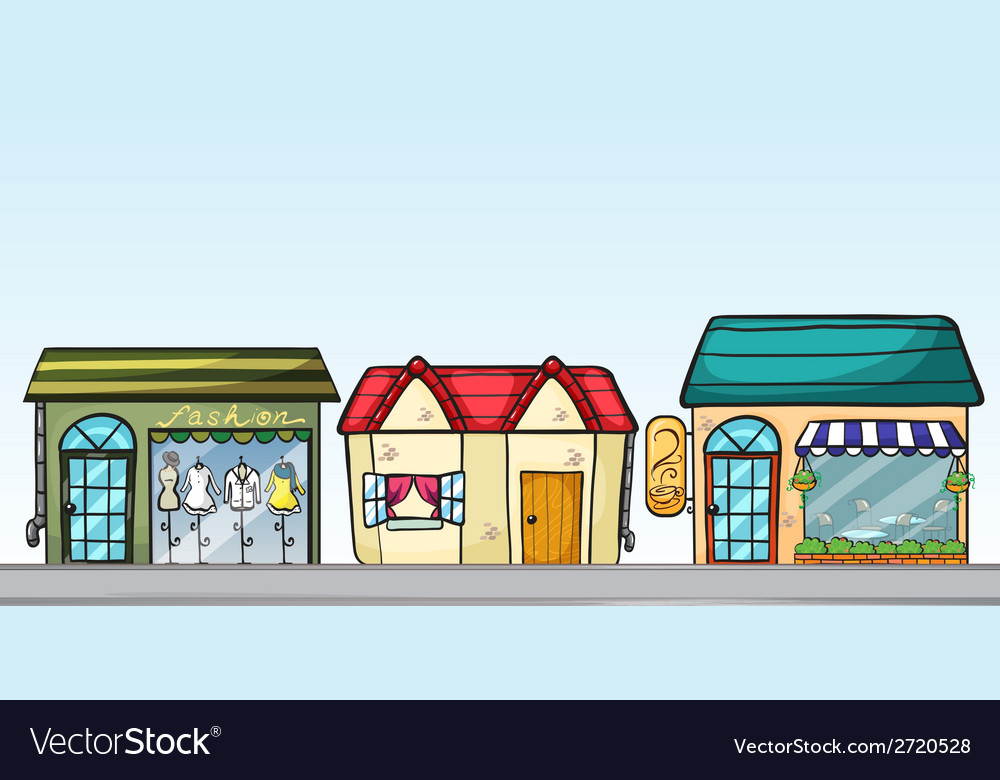 Business establishments vector | Price: 1 Credit (USD $1)