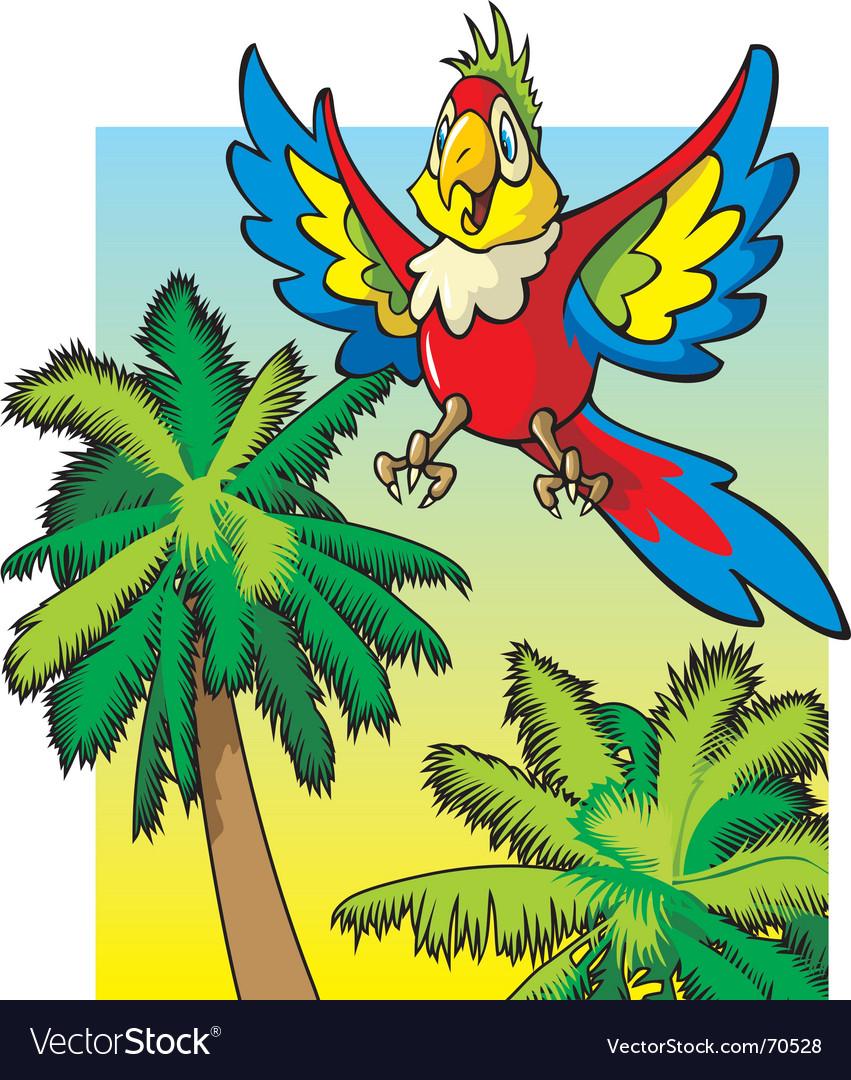 Cartoon parrot vector | Price: 1 Credit (USD $1)