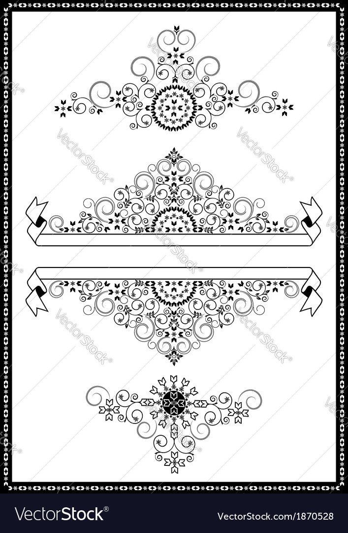 Collection ornaments and banners vector | Price: 1 Credit (USD $1)