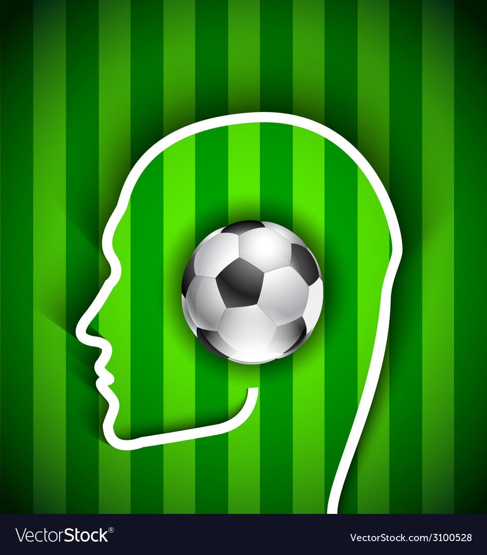 Human head with soccer ball vector | Price: 1 Credit (USD $1)