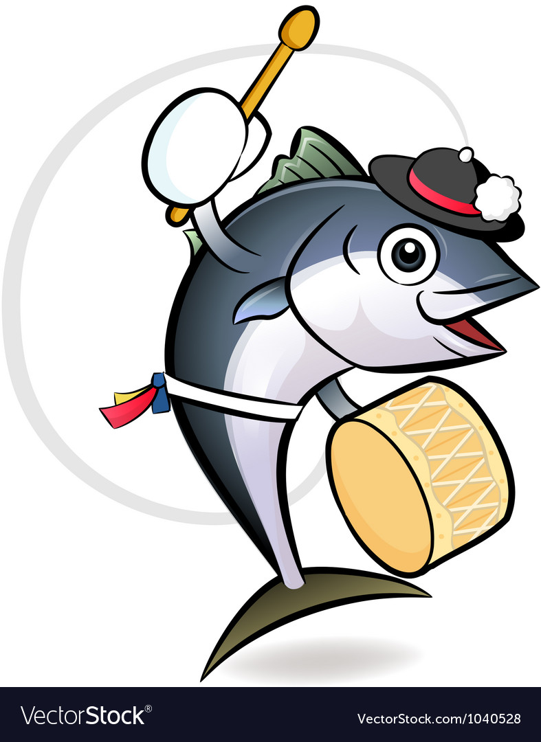 Korean tuna dance character vector | Price: 1 Credit (USD $1)