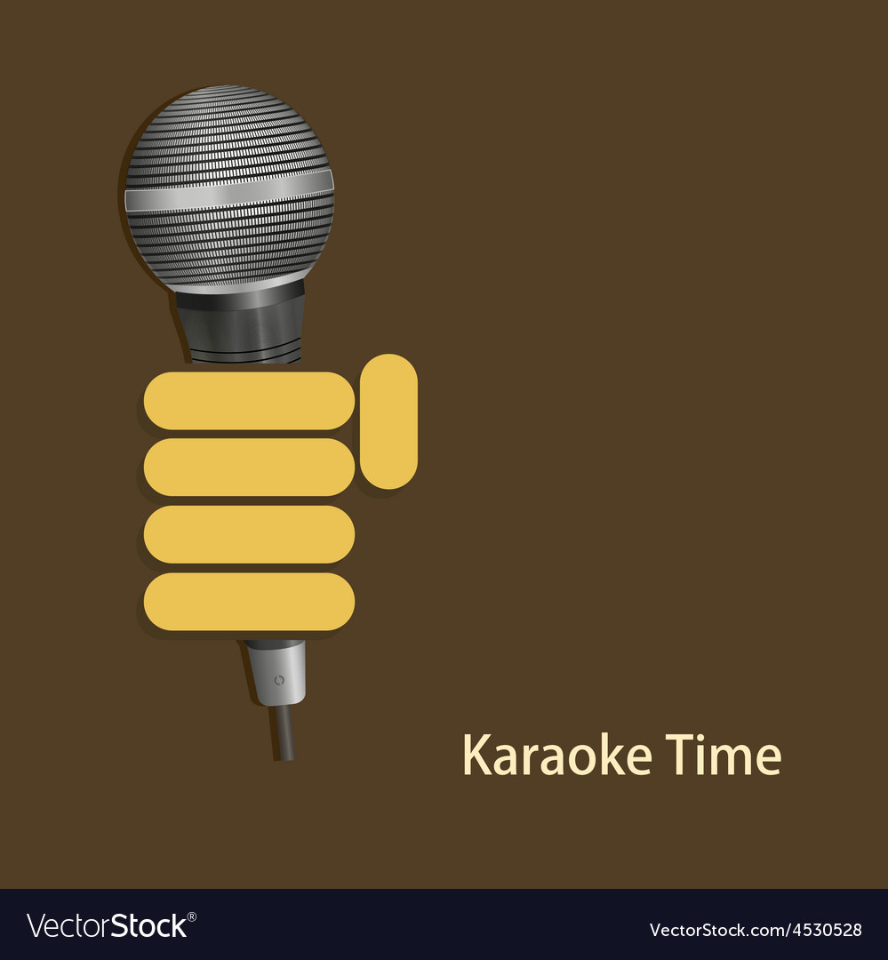 Modern karaoke time background vector | Price: 1 Credit (USD $1)
