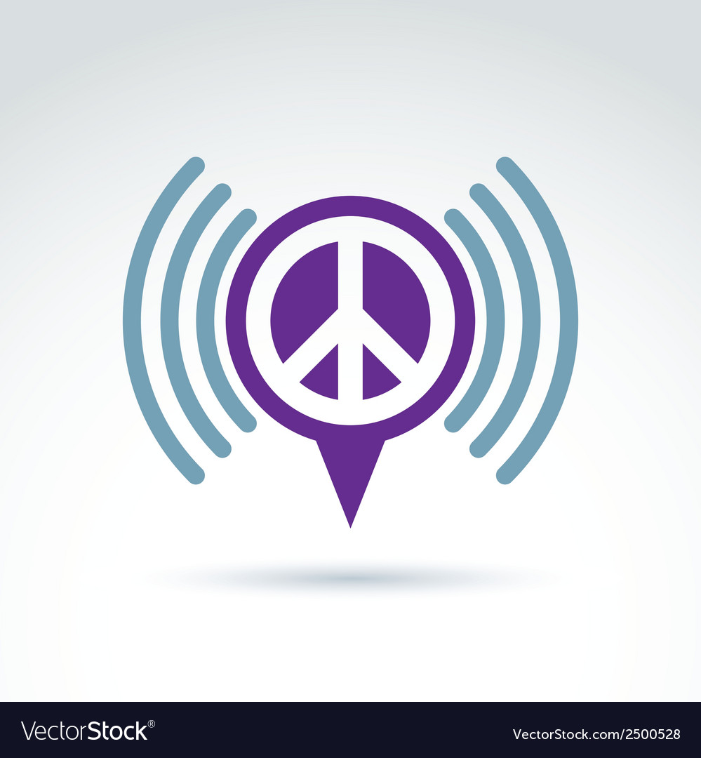 Speech bubble with peace symbol from 60th podcast vector | Price: 1 Credit (USD $1)