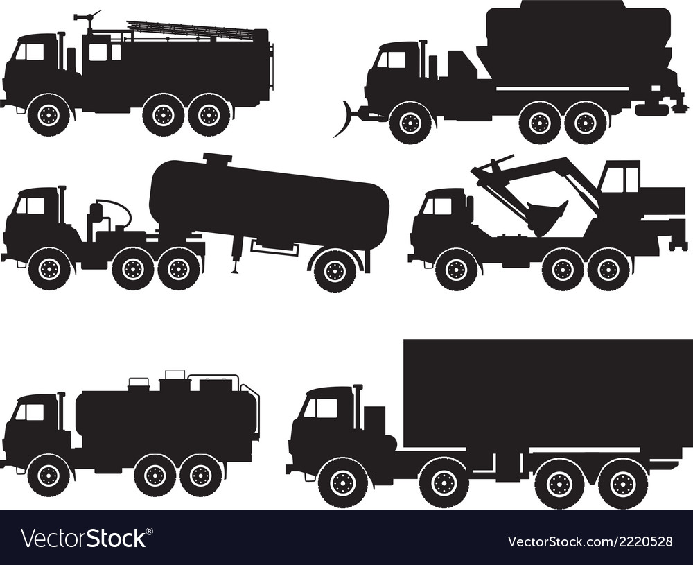 Types of trucks vector | Price: 1 Credit (USD $1)