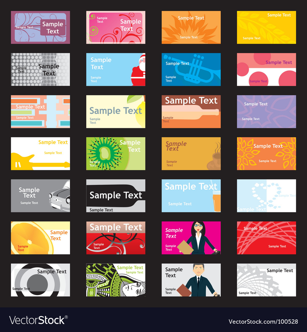 Visit cards with different layouts vector | Price: 1 Credit (USD $1)