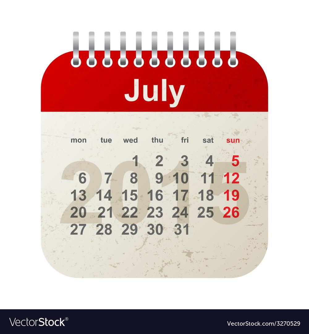 Calendar 2015 - july vector   Price: 1 Credit (USD $1)