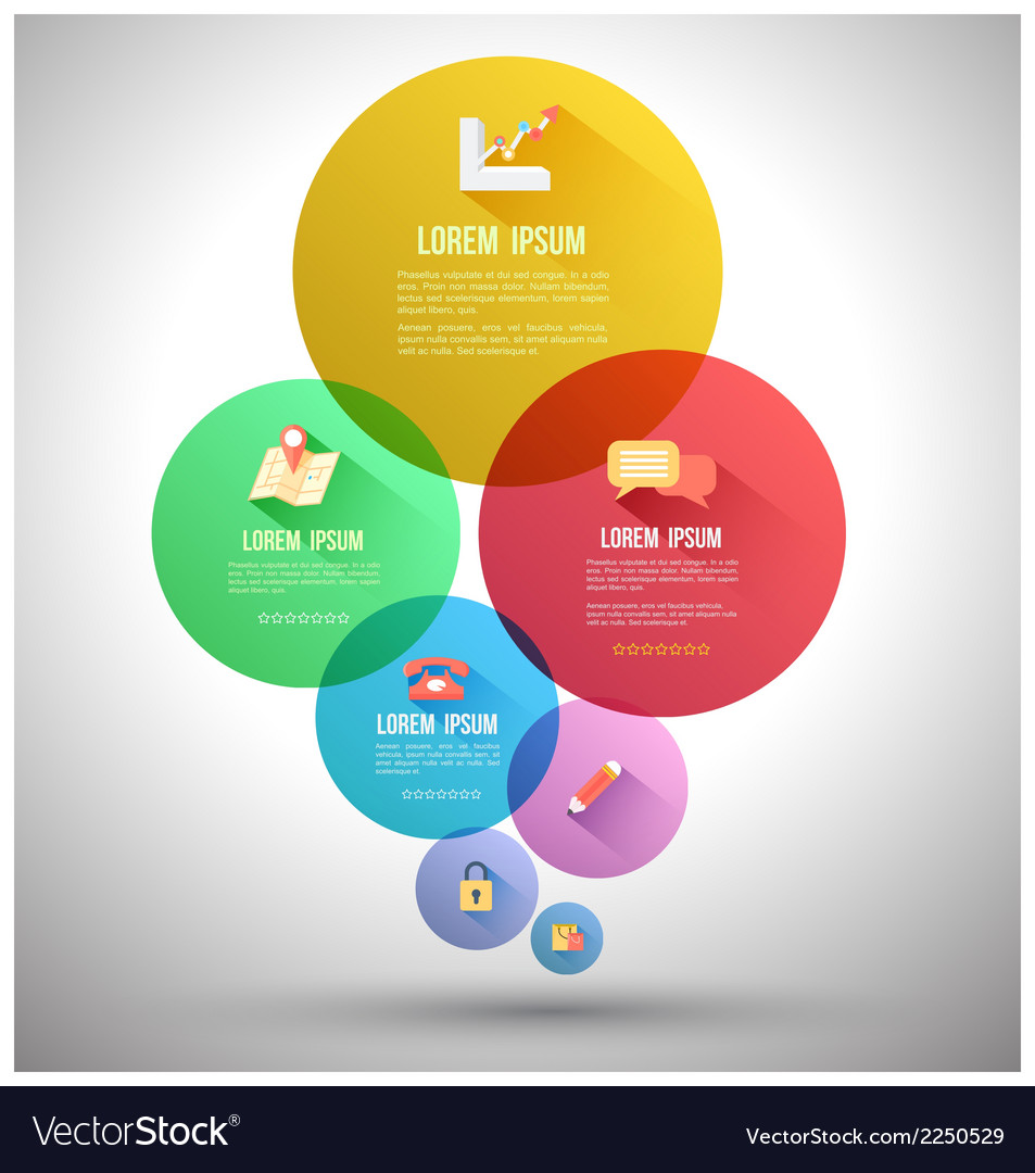 Circle group with flat icons vector | Price: 1 Credit (USD $1)