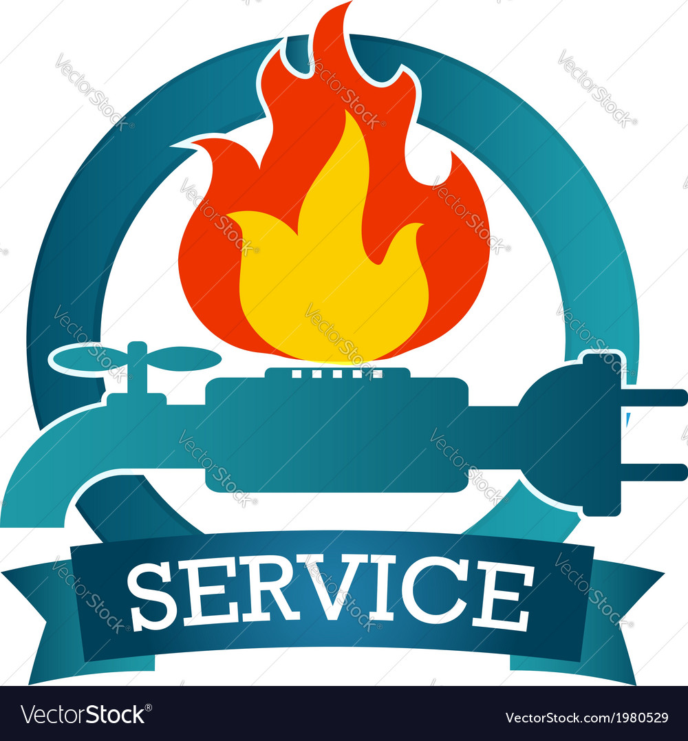Emblem of service vector | Price: 1 Credit (USD $1)