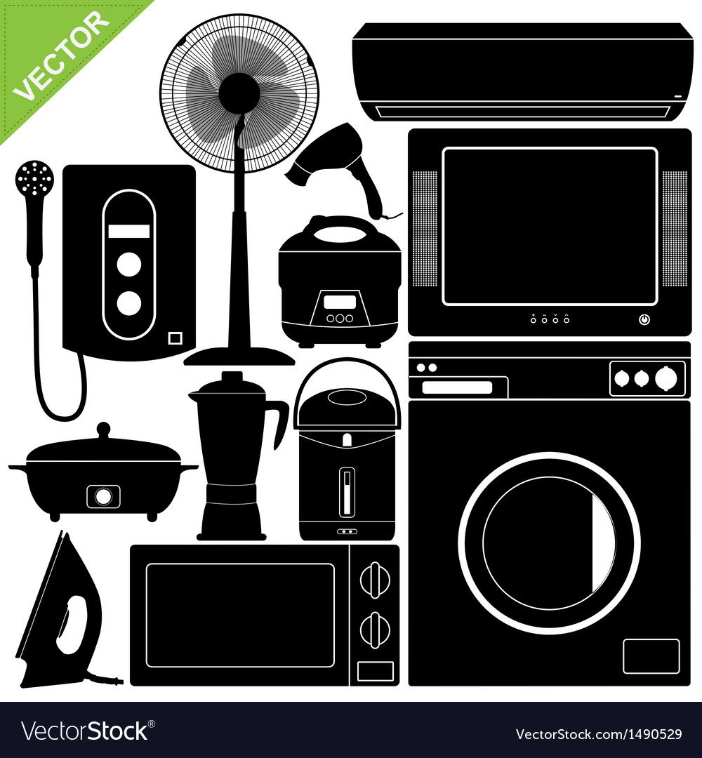 Home appliances electronic vector | Price: 1 Credit (USD $1)