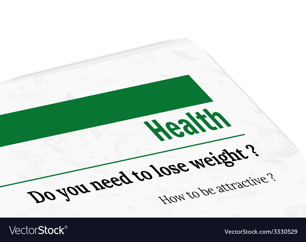 Newspaper - health vector | Price: 1 Credit (USD $1)