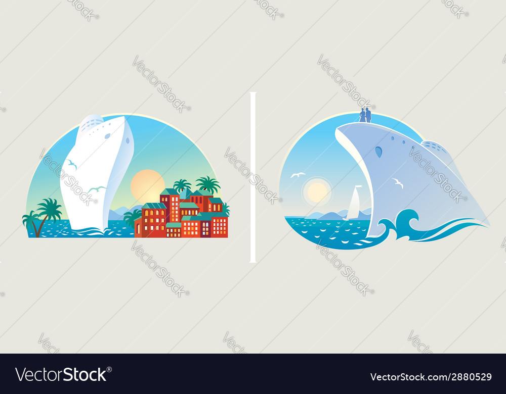 Resort liner vector | Price: 1 Credit (USD $1)