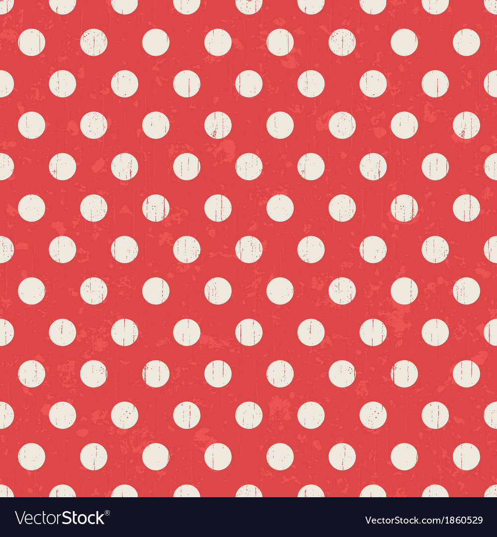 Seamless polka dots texture red pattern vector | Price: 1 Credit (USD $1)