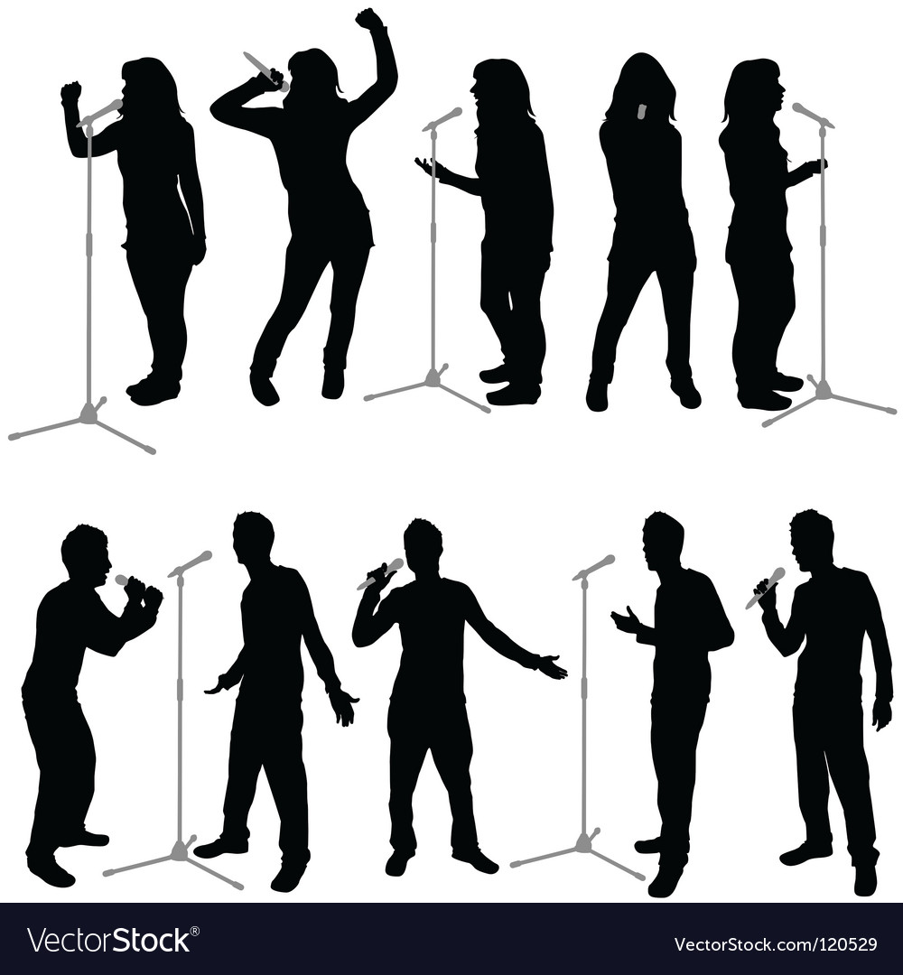 Singing people vector | Price: 1 Credit (USD $1)