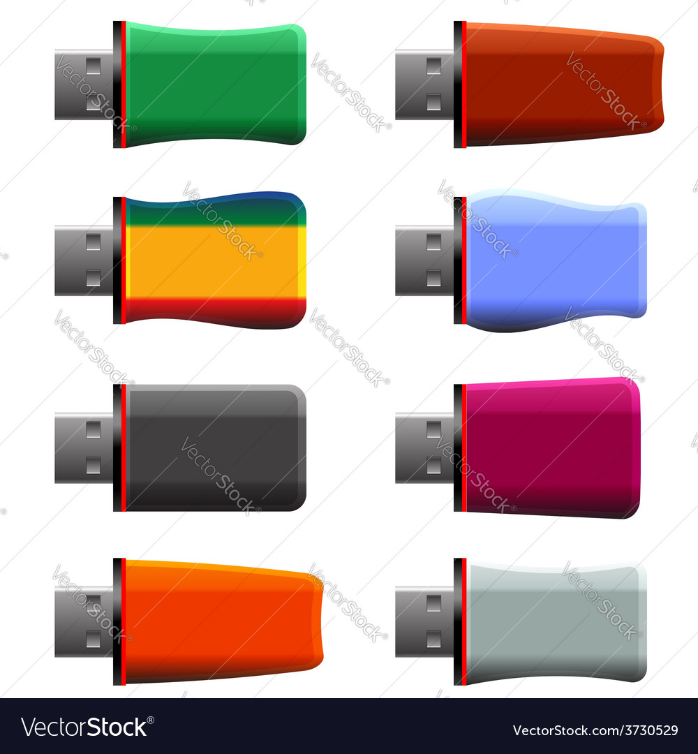 Usb memory sticks vector | Price: 1 Credit (USD $1)