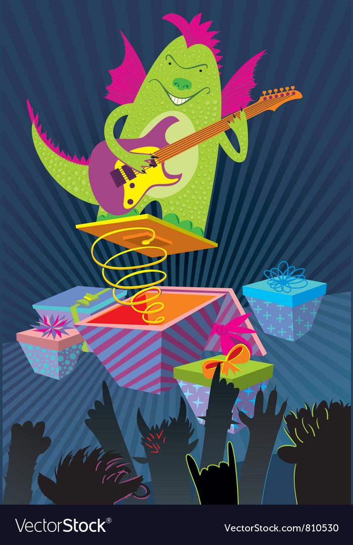 Dragon rockstar vector   Price: 3 Credit (USD $3)