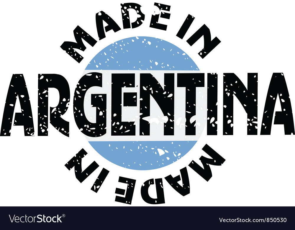 Label made in argentina vector | Price: 1 Credit (USD $1)