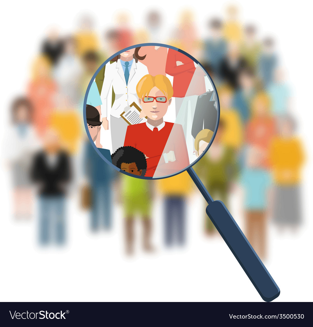 Looking for a person in the crowd vector | Price: 1 Credit (USD $1)