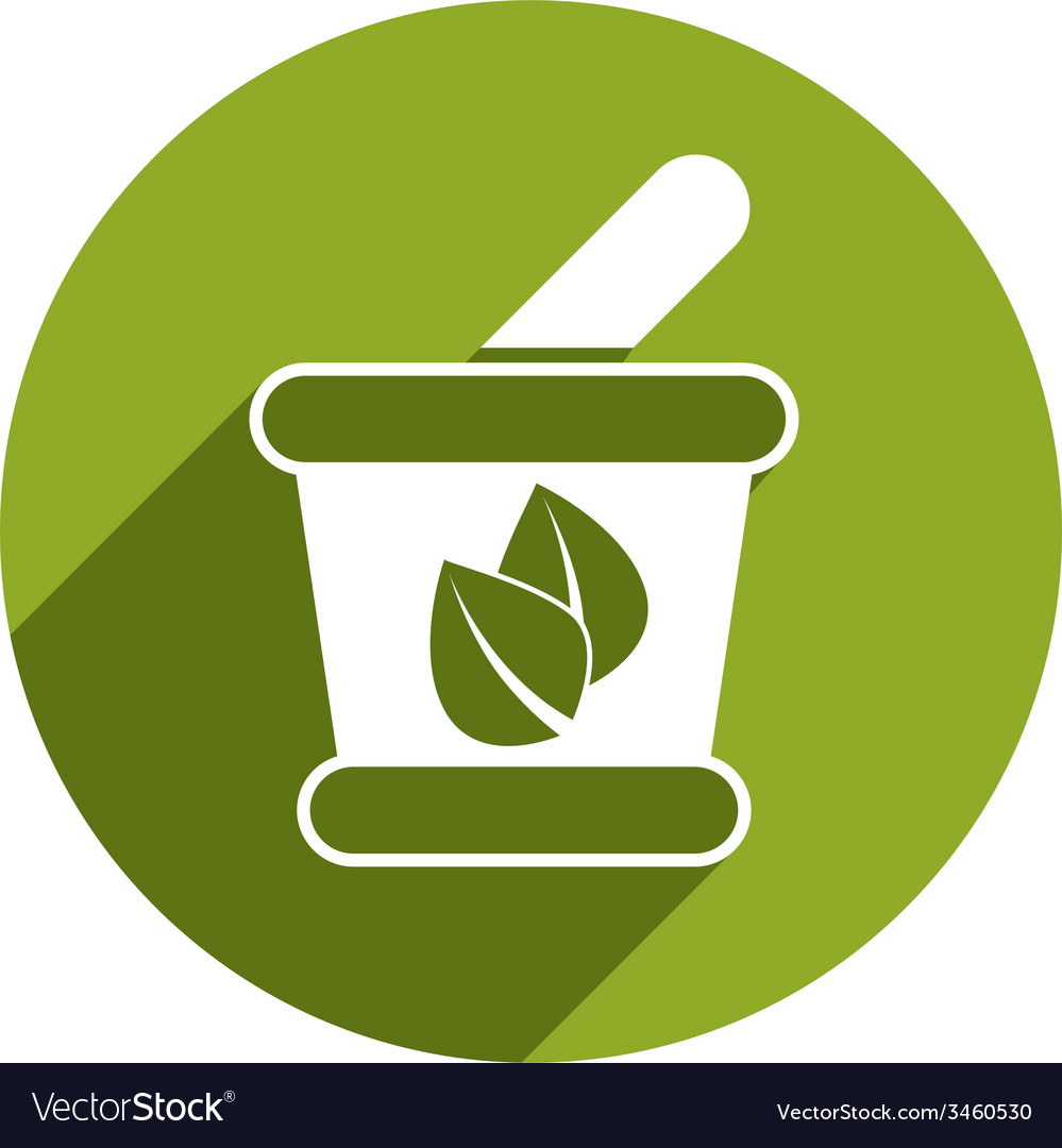 Mortar and pestle icon isolated vector | Price: 1 Credit (USD $1)