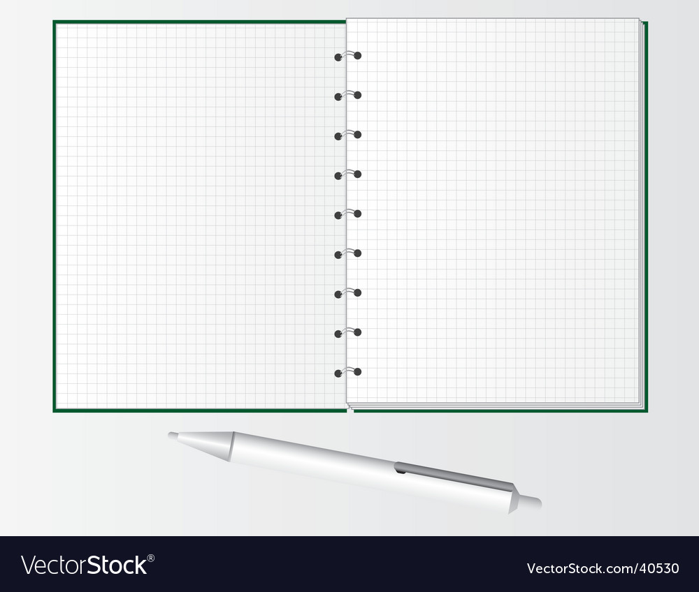 Pen and notebook for students vector | Price: 1 Credit (USD $1)