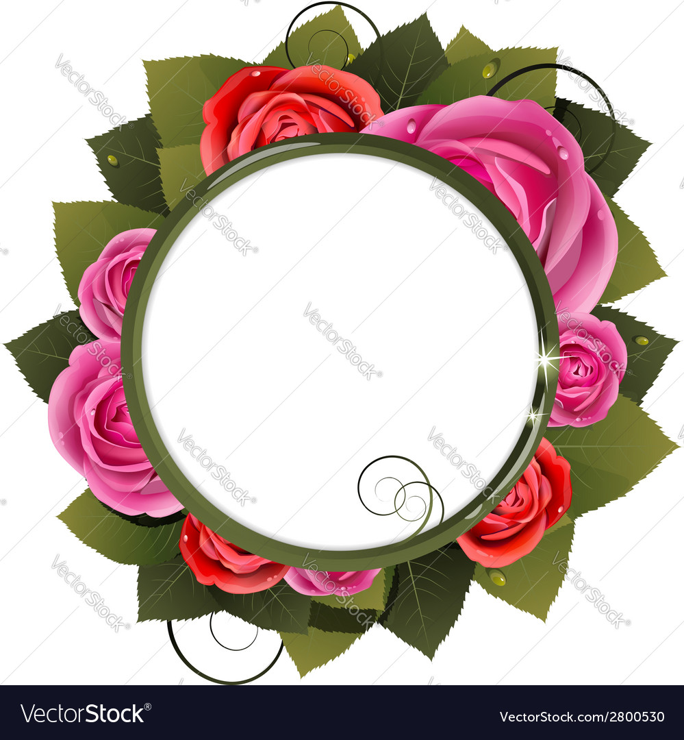Red and pink roses bouquet vector | Price: 1 Credit (USD $1)
