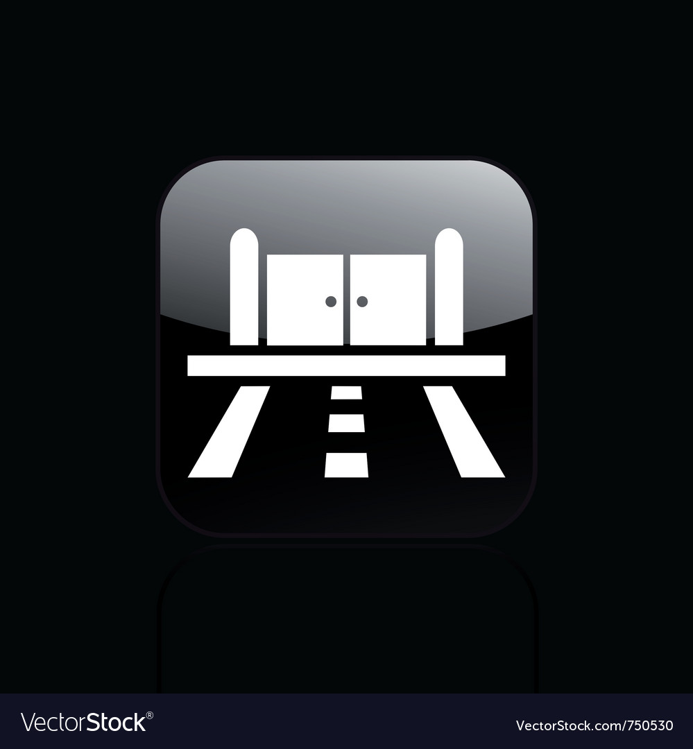 Road doors icon vector | Price: 1 Credit (USD $1)