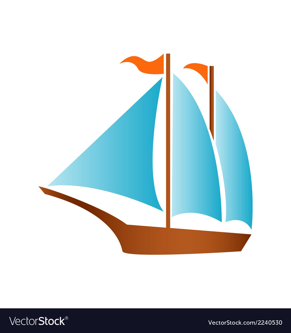 Sailing boat logo icon vector | Price: 1 Credit (USD $1)