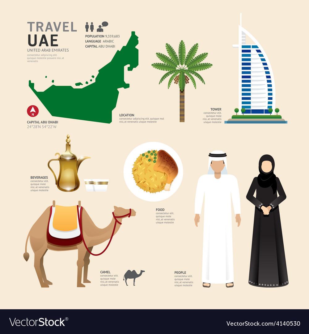 Uae united arab emirates flat icons design vector   Price: 3 Credit (USD $3)