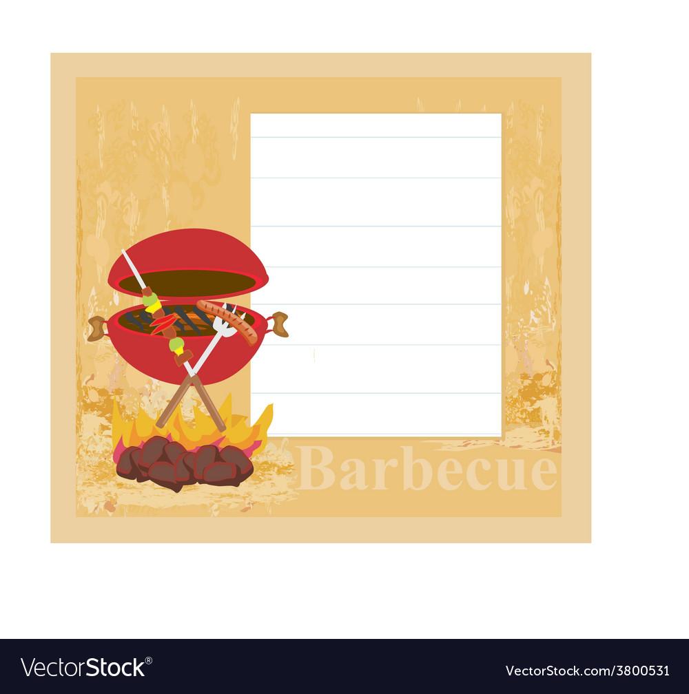 Barbecue party invitation vector   Price: 1 Credit (USD $1)