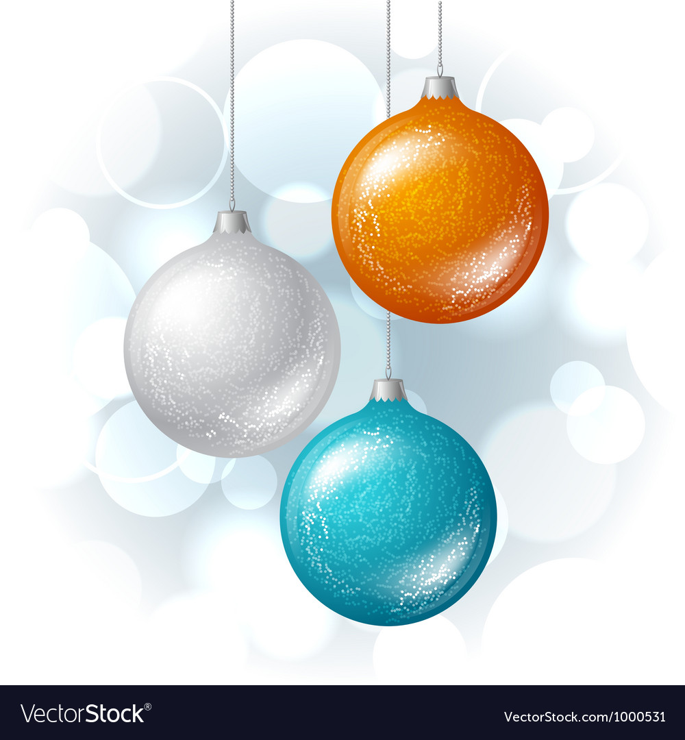 Christmas background with brilliant glossy balls vector | Price: 1 Credit (USD $1)