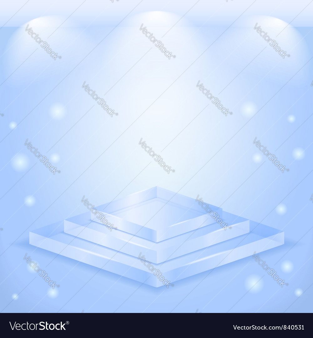Glass stage vector | Price: 1 Credit (USD $1)
