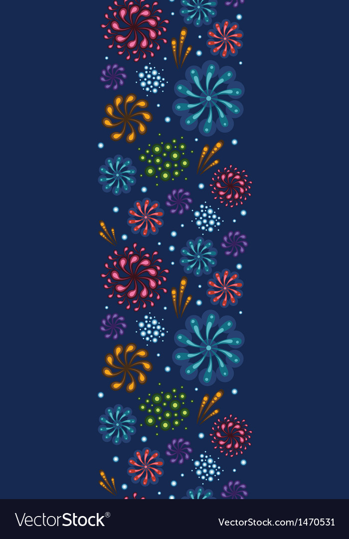 Holiday fireworks vertical seamless pattern vector | Price: 1 Credit (USD $1)