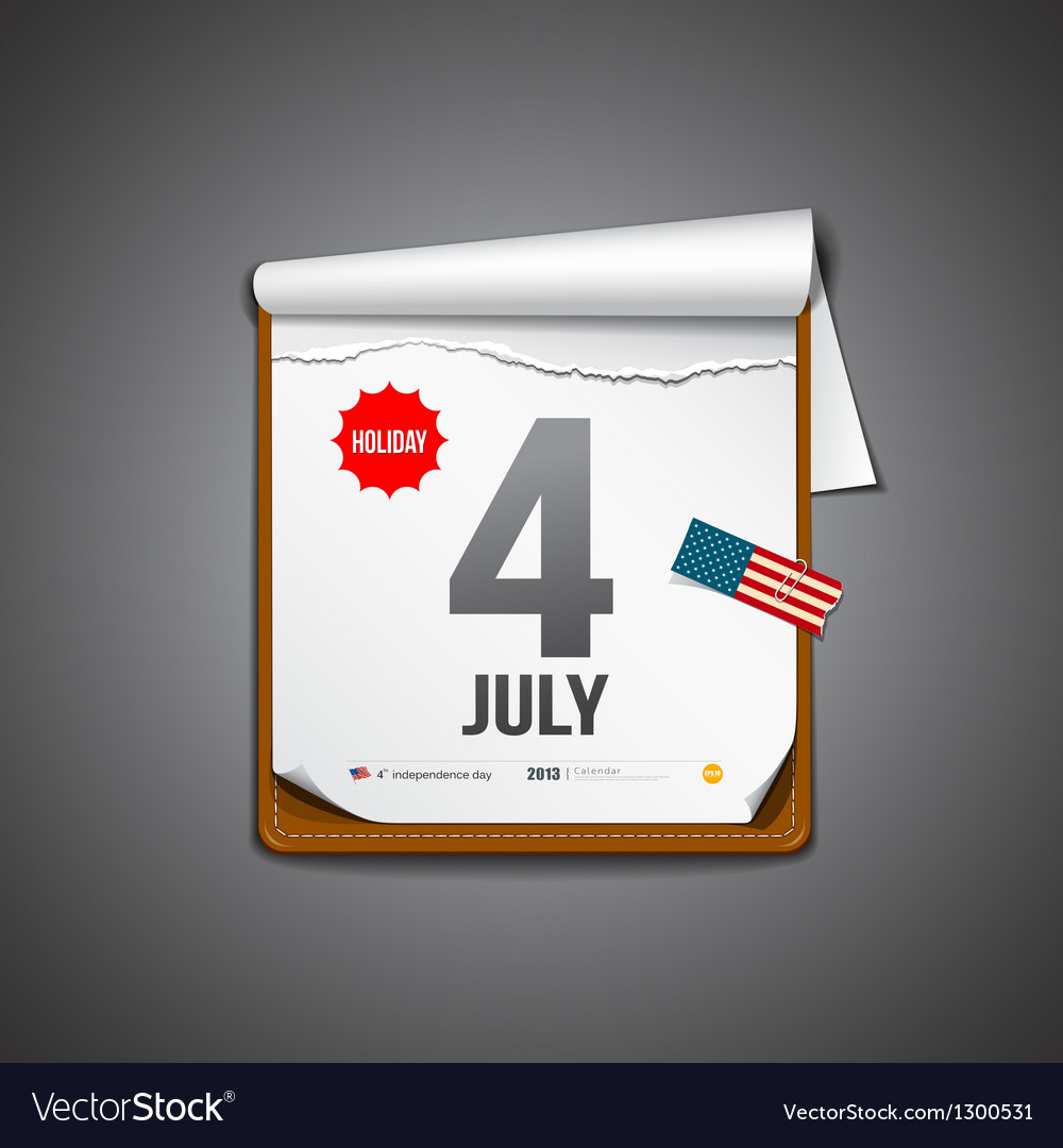 July 4 calendar independence day vector | Price: 3 Credit (USD $3)