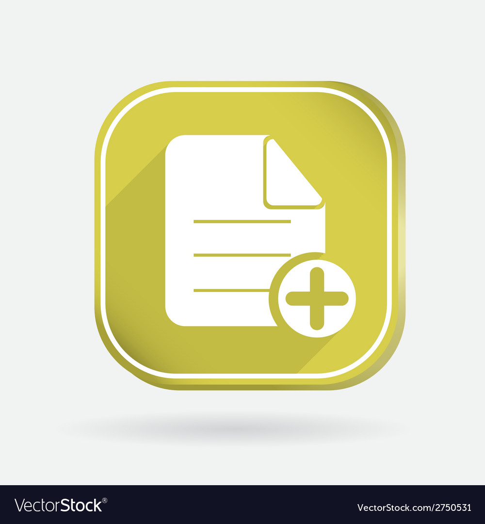 Page of the document color square icon vector | Price: 1 Credit (USD $1)