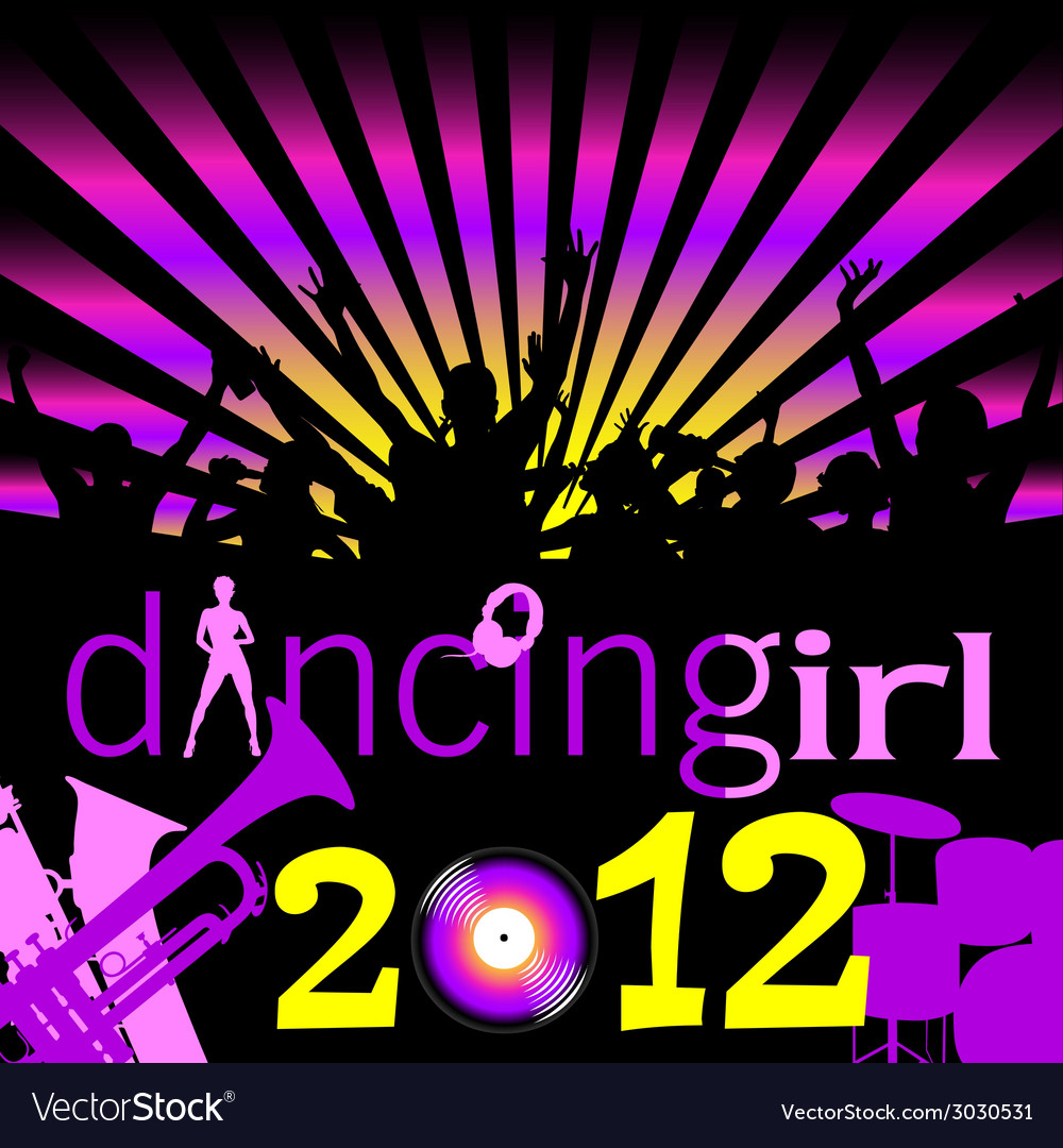 Party dancing girl for 2012 vector | Price: 1 Credit (USD $1)