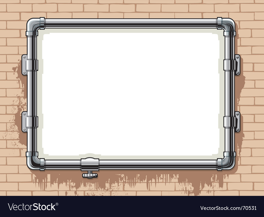 Steel pipe photo frame vector | Price: 1 Credit (USD $1)