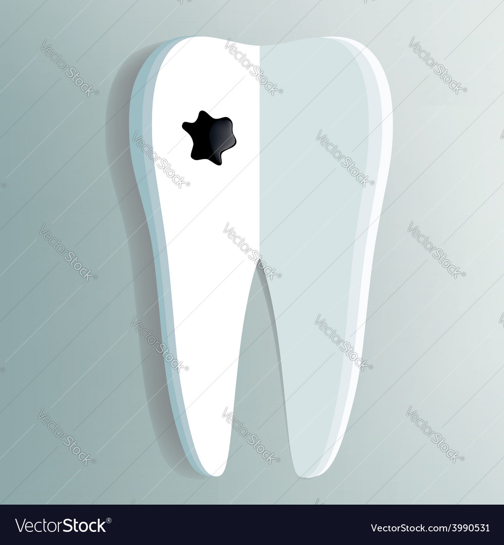 Tooth as a notepad with ink drop vector | Price: 1 Credit (USD $1)